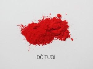 màu khoáng làm son, đỏ tươi
