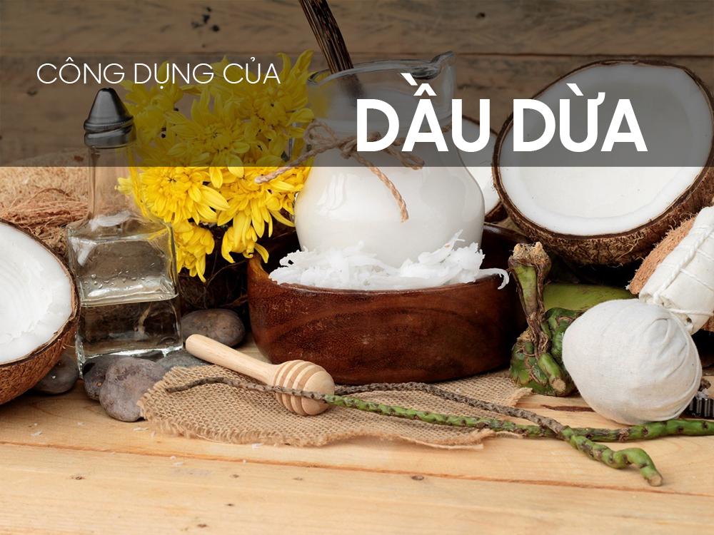 Công dụng của dầu dừa đối với sức khỏe và làm đẹp