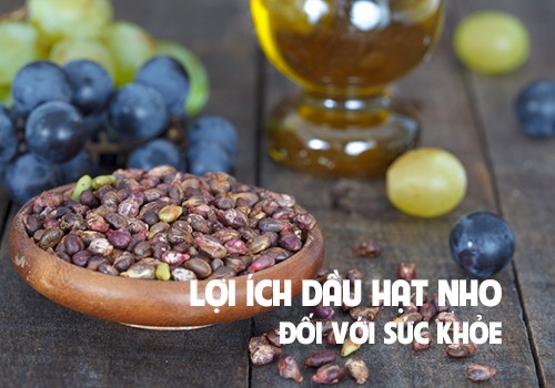 Lợi ích của dầu hạt nho cho sức khỏe