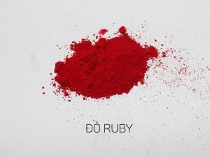 màu khoáng làm son, đỏ ruby