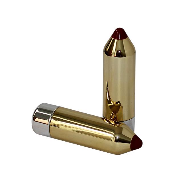 Thỏi đựng son bút chì mạ vàng