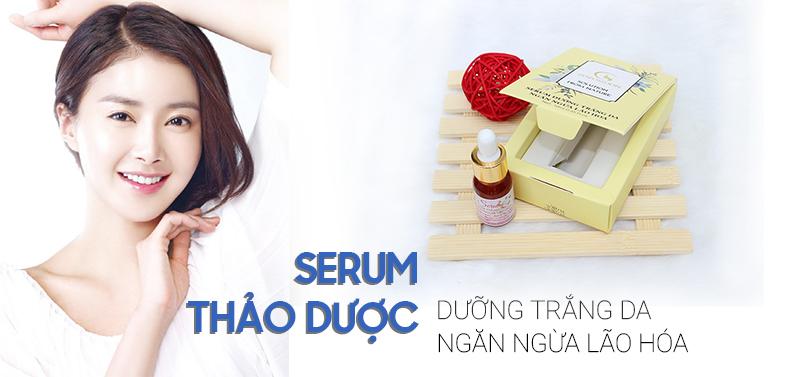 Serum dưỡng trắng da, ngăn ngừa lão hóa 100% chiết xuất thiên nhiên