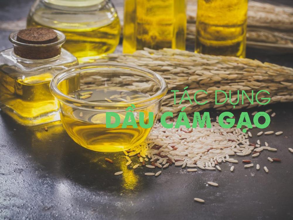 Công dụng của dầu cám gạo cho da và tóc